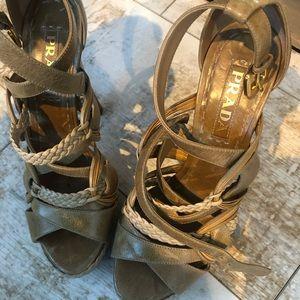PRADA ......high high strappy heels